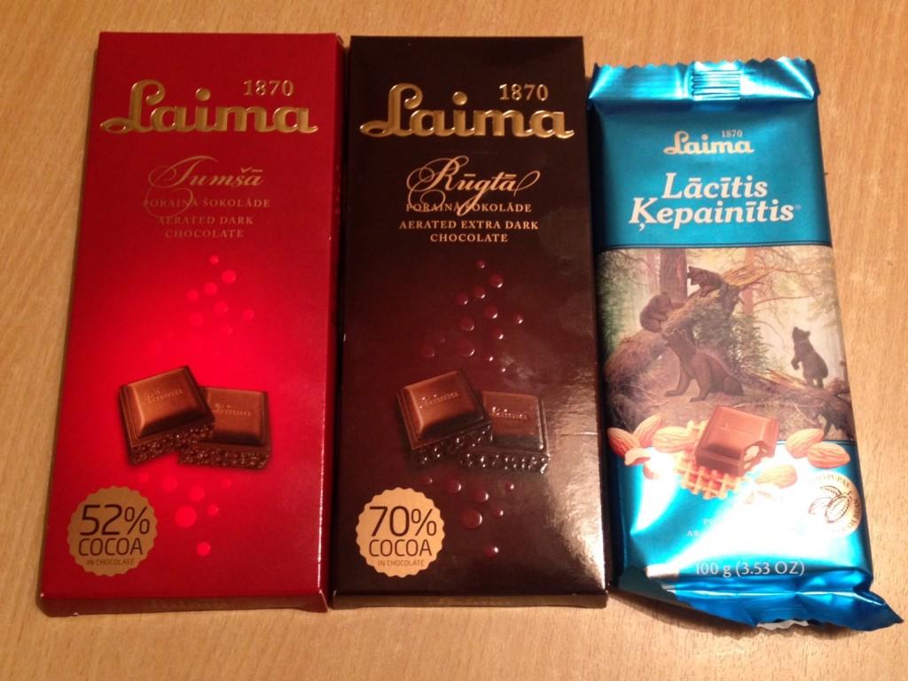 Laima は老舗チョコメーカー