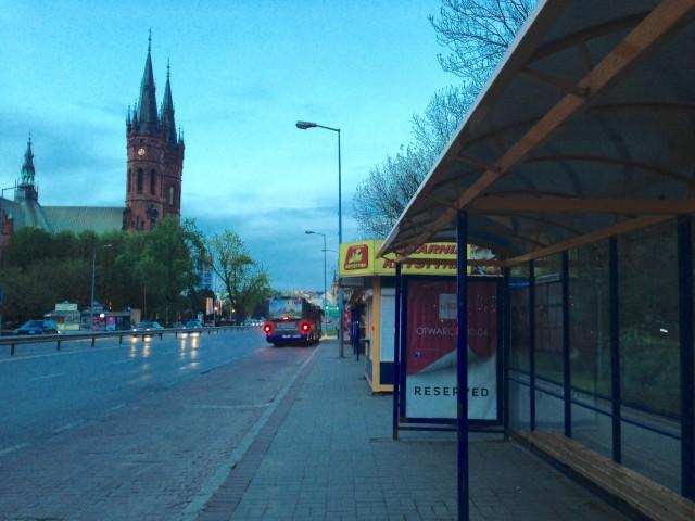 待つバス停からの眺め
