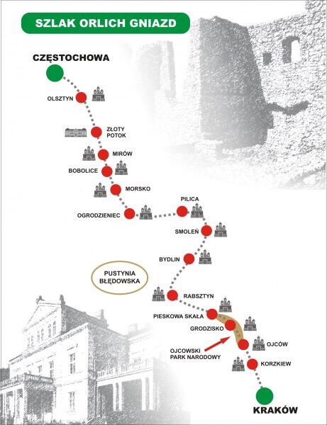 鷲の巣古城街道マップ