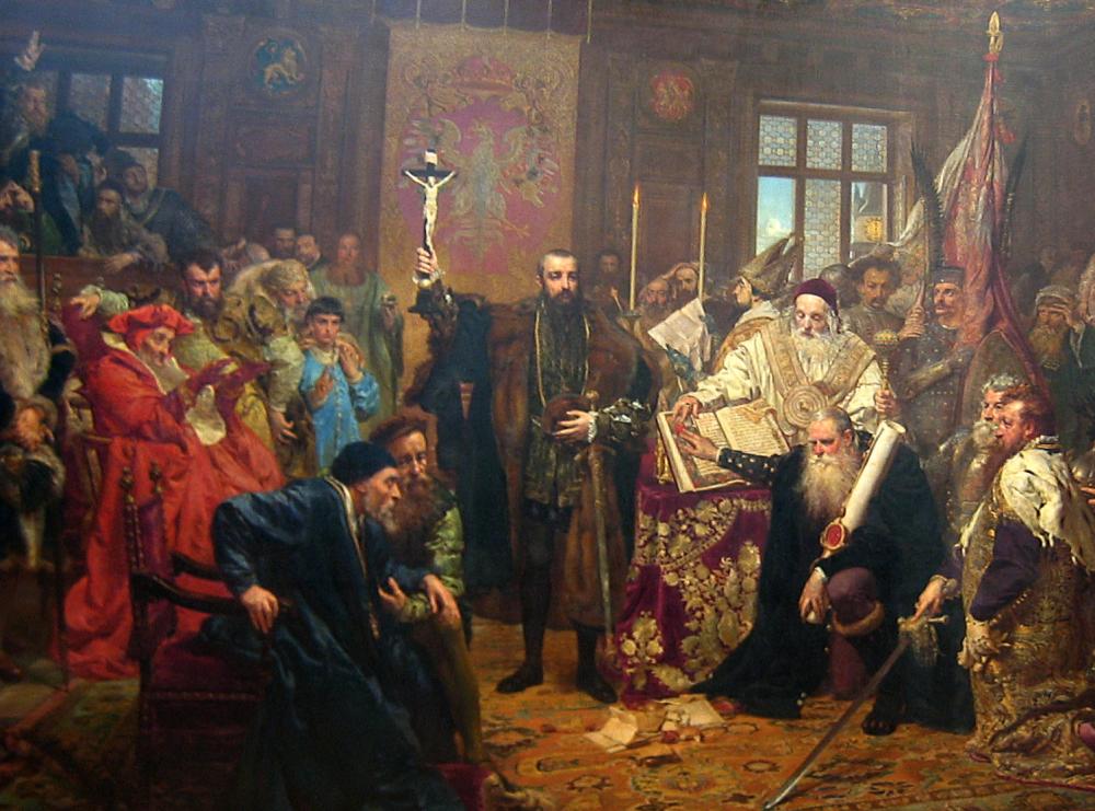 ルブリン合同 painted by Jan Matejko