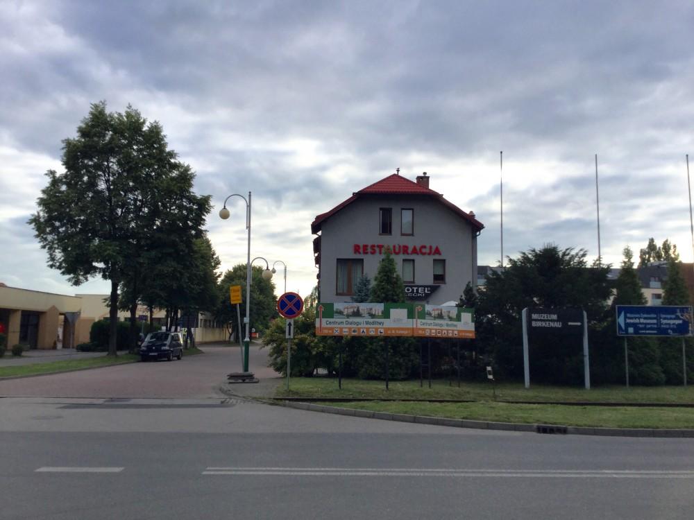 アウシュヴィッツ横のレストラン