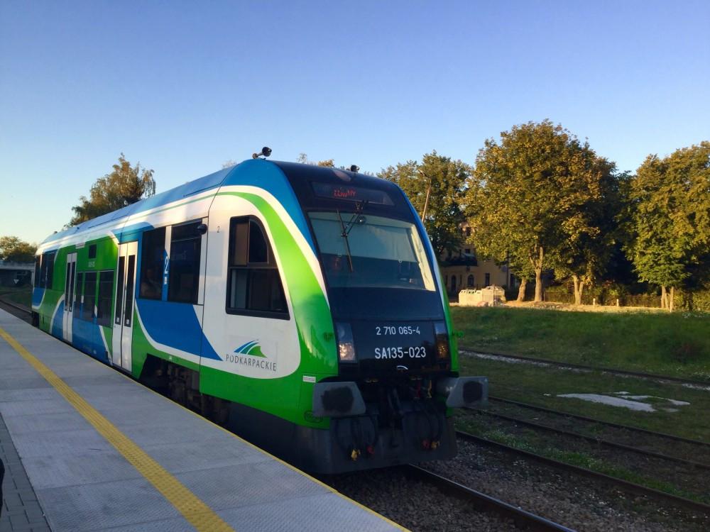 ザモシチで乗ったローカル列車