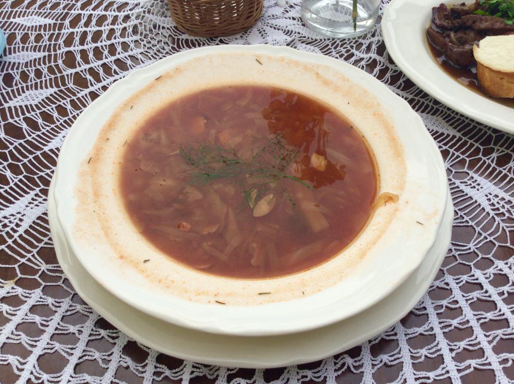 ポーランドのキャベツスープ 9PLN