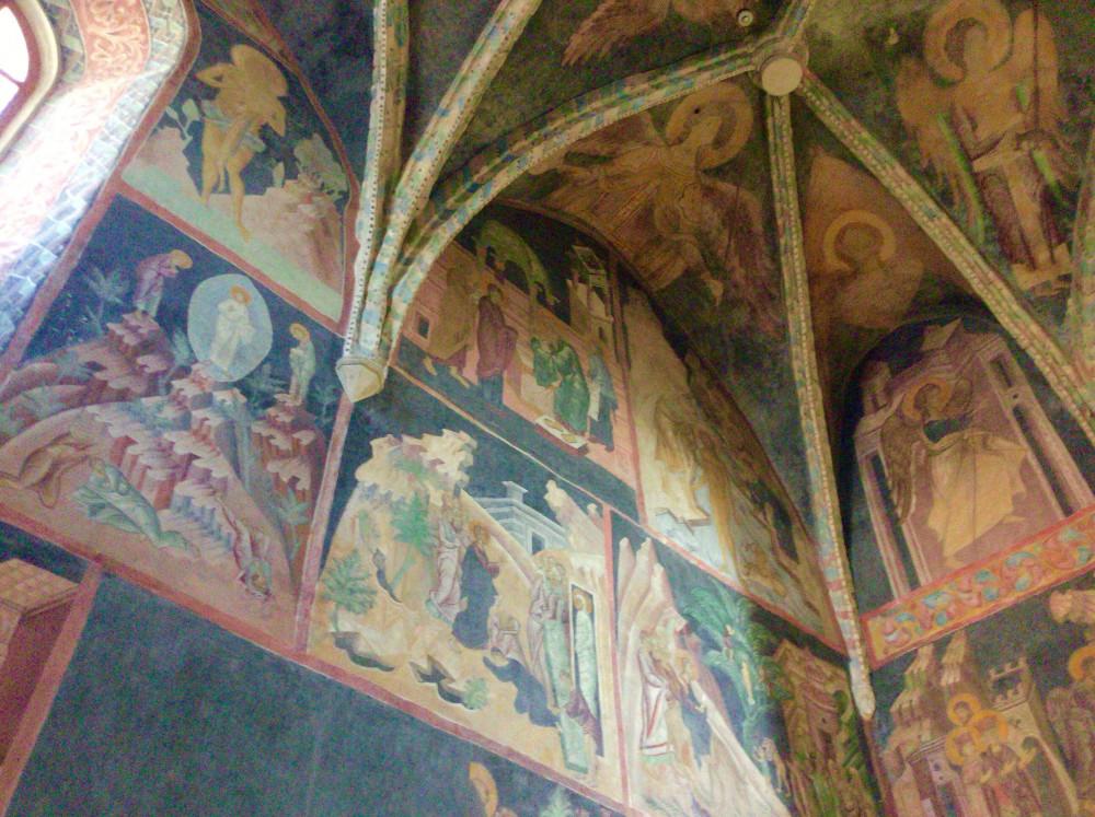 聖書のワンシーンの壁画