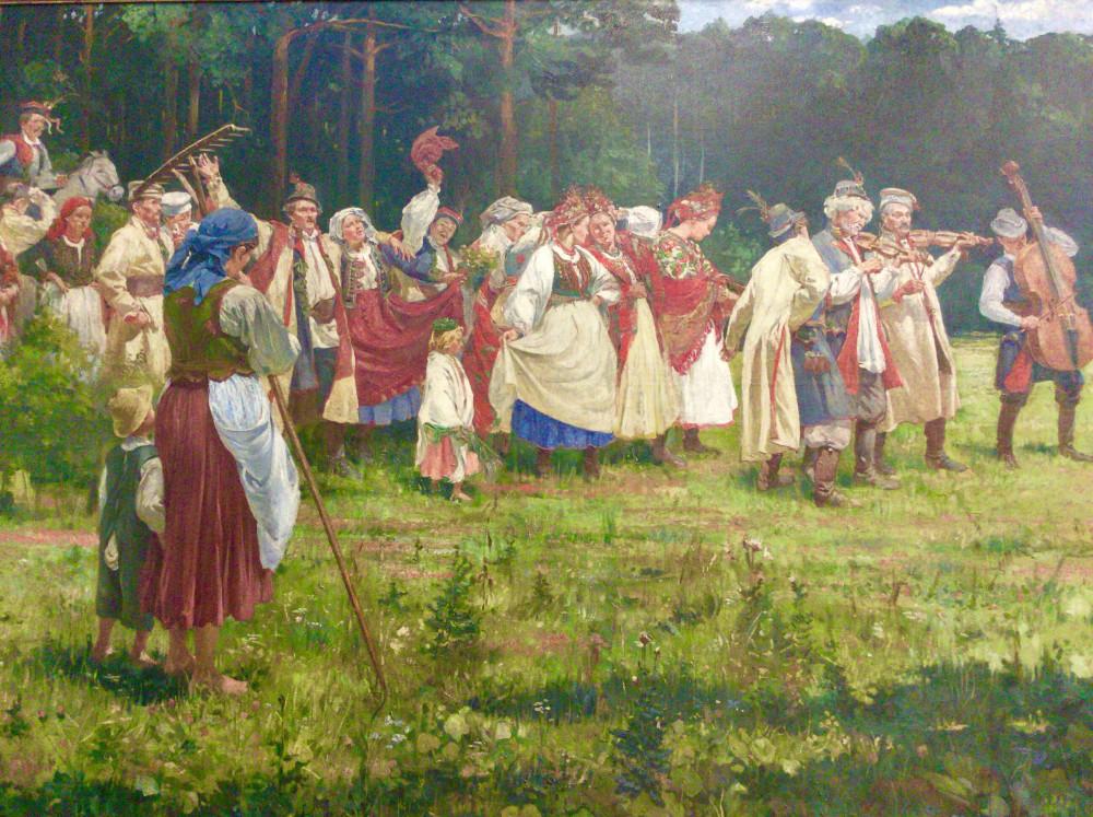 ポーランドの民族を描いた階が