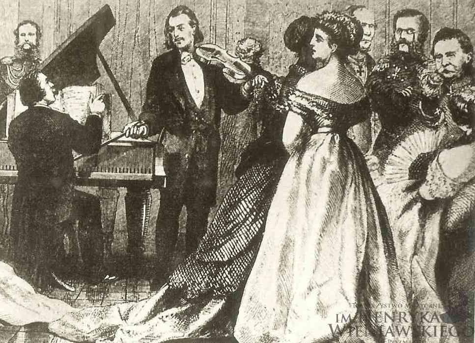 演奏する若きヴィエニャフスキ