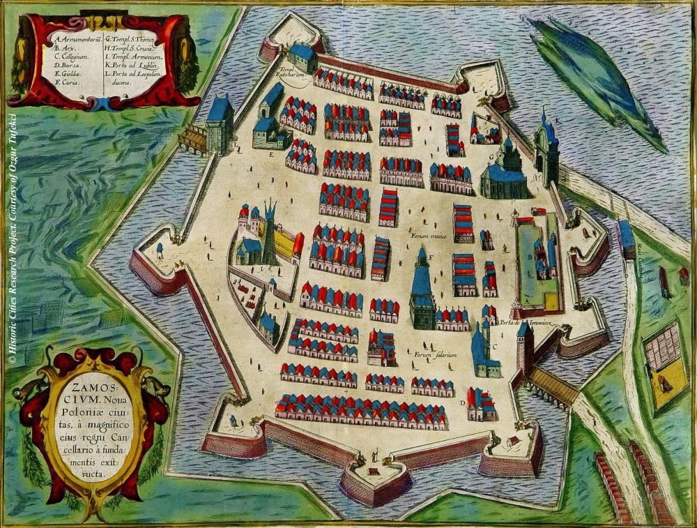 ザモシチの旧市街モデル -1617年