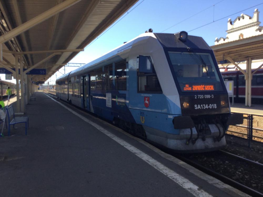 ザモシチへ向かう列車