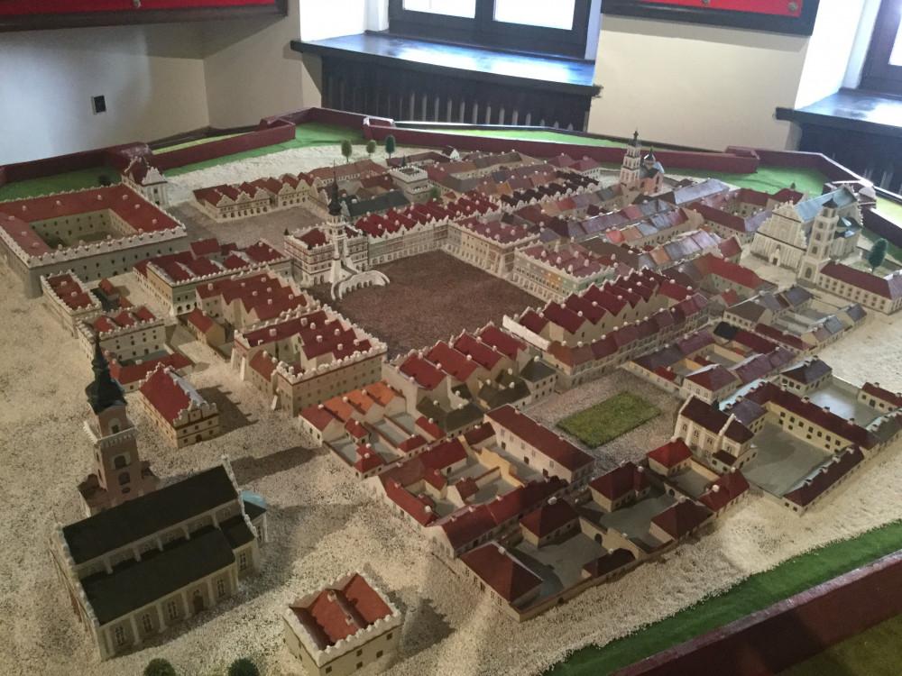 中世のザモシチ旧市街モデル