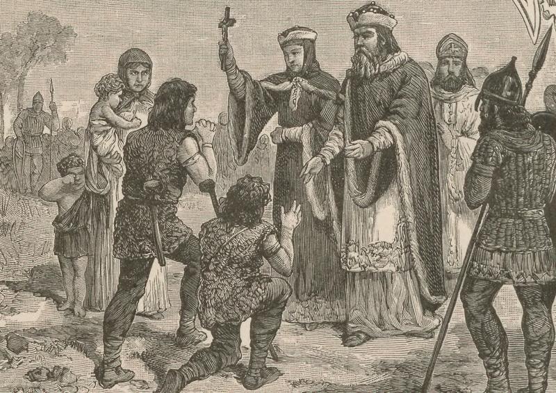 ミェシュコ1世と王妃ドブラヴァ