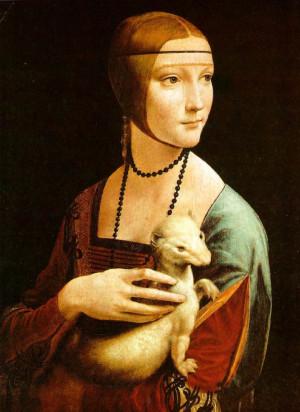 『白貂を抱貴婦人』