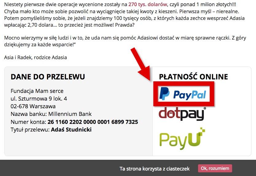 このページの下部にある PayPal を選択