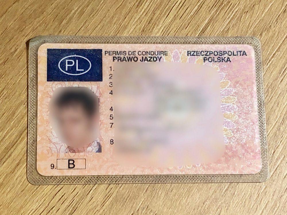 ポーランドの免許証