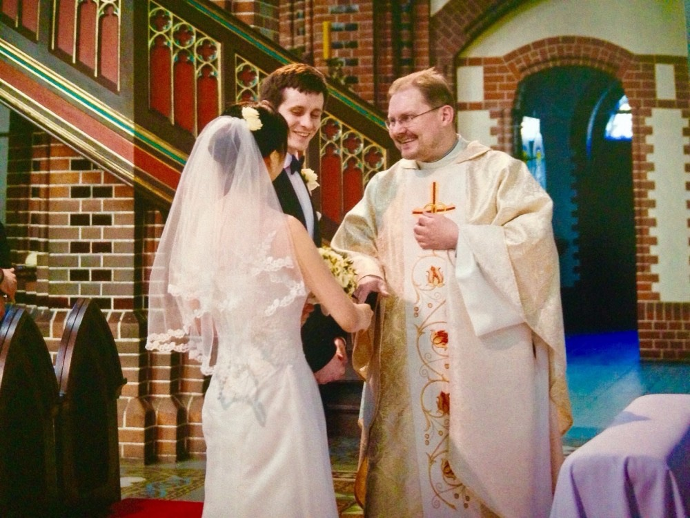 結婚の一場面