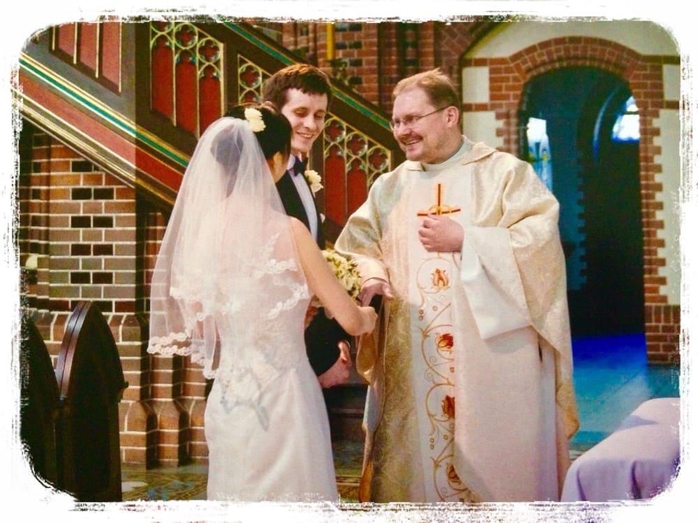 結婚式の一場面