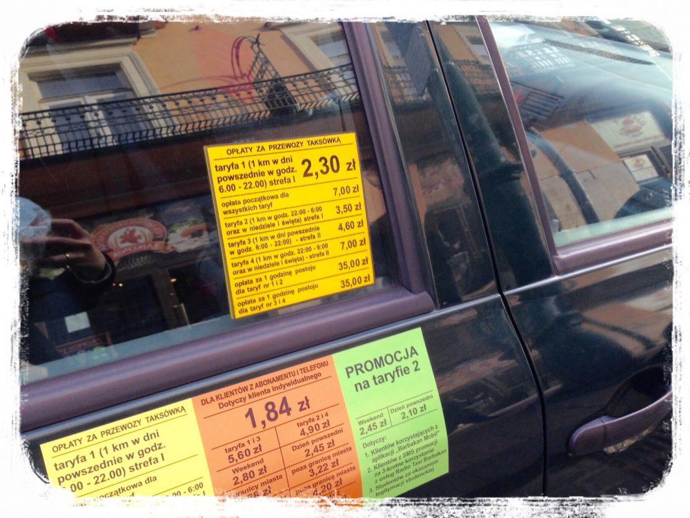 タクシーのメーター