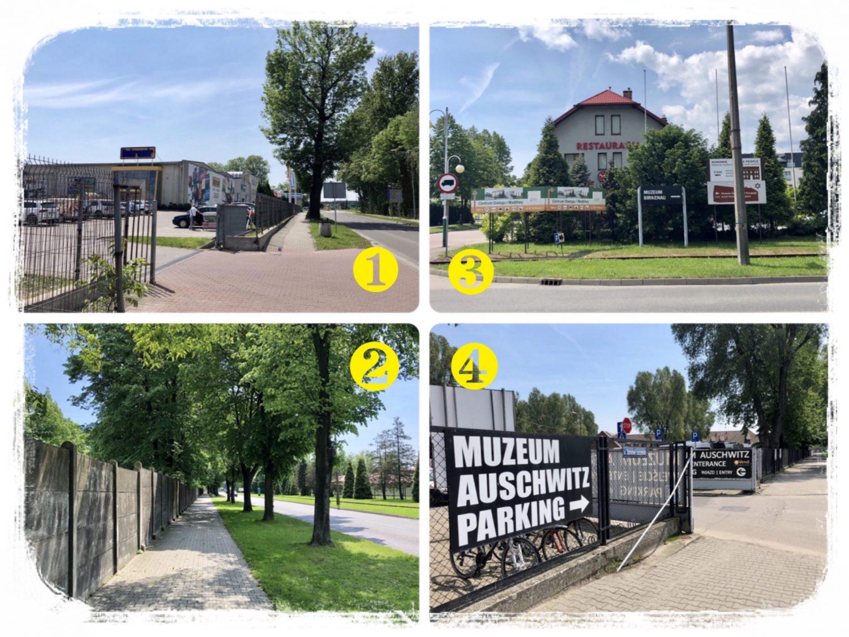 オシフィエンチム駅から博物館まで