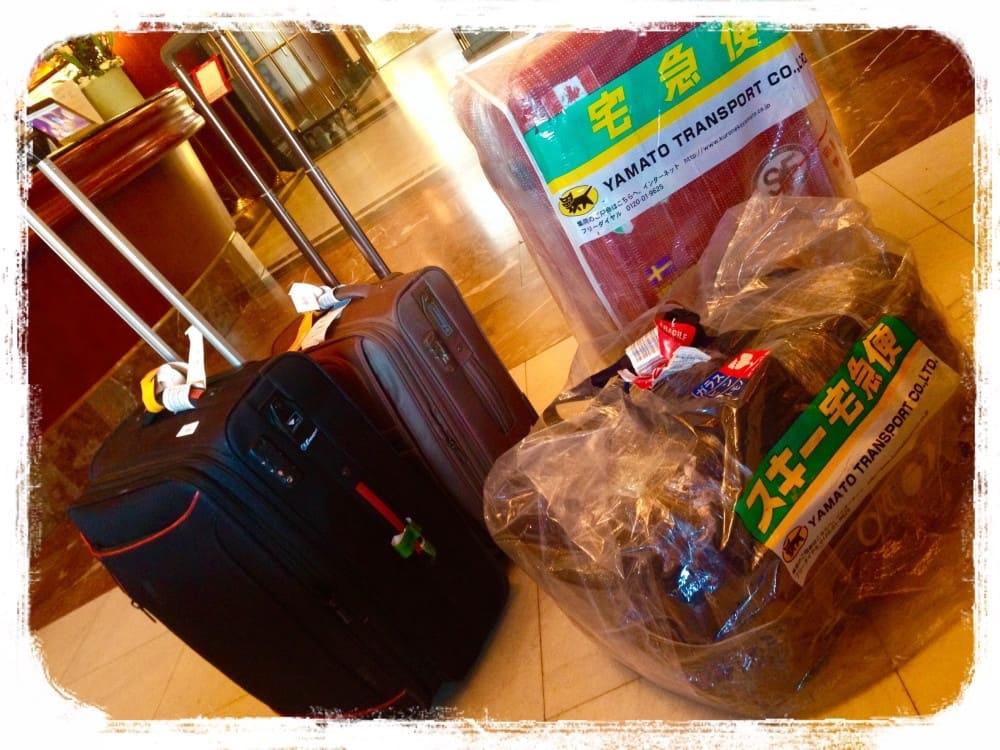 荷物いっぱいの一時帰国